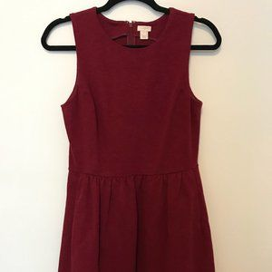 J. Crew Red Fit and Flare Dress